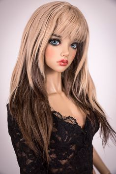 This product has a $10 discount on our website - http://amadiz-studio.com/  Natural alpaca wig.  Beautiful long hairstyle with the two colors for your doll. The wig has an elastic cap of white color with an elastic band, that you dont need a silicone cap. ~ Our wigs are versatile, they are suitable for many dolls with a similar head size! ~  You can choose size and any color (please contact us). Please write in comment to order firm and mold of your doll!  Processing time about 2 months…