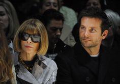 Anna Wintour and Bradley Cooper at Burberry Prorsum AW14