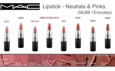 Karly Creates: MAC Lipsticks for Everyday (Neutrals, Pinks, Plums, Berries) Comparisons & Favorites | Makeup Collection