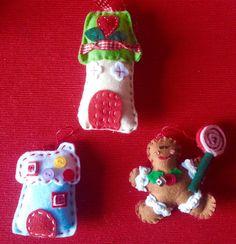 Christmas ornamentsgingerbread feltfelt di LaTanaDiOtto su Etsy