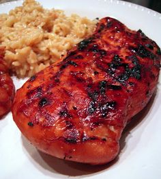 Grilled Coca-Cola Chicken - coke, soy sauce, garlic, brown sugar, balsamic and lime - great marinade for chicken or pork.