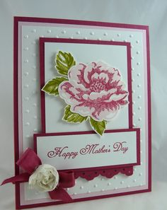 It's so nice to be using more spring time colors! I'm ready for spring to show it's lovely face as well! This will be a workshop project at the end of March. It can be a Mother's Day card or ...