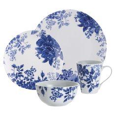 Paula Deen Tatnall Street 16 Piece Dinnerware Set - Bluebell.Opens in a new window
