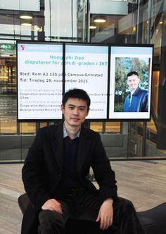 Disputerer på fremtidens mobilbredbånd  Hongzhi Jiao disputerer tirsdag 29. november på en avhandling der han fokuserer på samarbeidet mellom nodene i et mobilnettverk hvor brukerne kommuniserer med hverandre via multihopp dataoverføring.