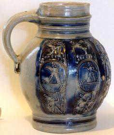 0.5 Litre Westerwald Stoneware Mug, 1670-1700,