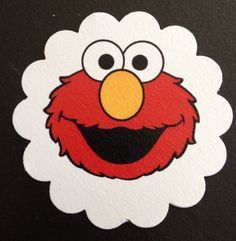 """** 60** 2"""" Elmo Treat Tags Gift/Party/Thank you"""