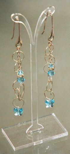 Aquamarine Butterfly Drop Earrings by KwaiJewellery on Etsy, $29.95