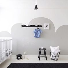 Stoere babykamer - natural nursery