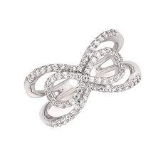 3/8 Ctw. Diamond Fashion Split Shank Infinity Ring In 14K Gold