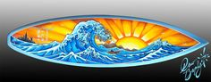Cool surfboards 2014   Drew has painted thousands of surfboards, all over the world. Here are ...