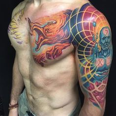 Here 39 s a pic from zachg1250 stomach piece in progress at for Tattoo shops in clarksville