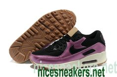 finest selection 0a286 dfd29  Nike  Air  Max 90 Premium Black Laser Purple Brown Womens Shoes  Purple