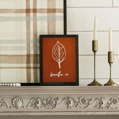 Leaf sign for fall. Wooden farmhouse wall decor. Fall layering sign for mantle.