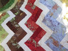 Modern rail fence quilt by NannyGrans on Etsy
