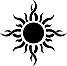 tribal sun tattoo image by azaz3l9 - Photobucket
