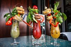 Ranking San Diego& 6 most ridiculous Bloody Marys - So glad I live in this fine city and don& have to venture far to try these meals-in-a-glass. San Diego Brunch, San Diego Food, San Diego Bars, San Diego Vacation, San Diego Travel, Bloody Mary Recipes, San Diego Restaurants, Small Bars, California Travel