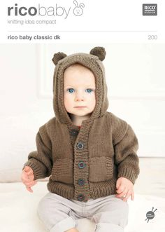 Babies' Hoodies in Rico Baby Classic DK - 200. Discover more Patterns by Rico at LoveKnitting. We stock patterns, yarn, needles and books from all of your favorite brands.