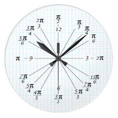 Shop Unit Circle Clock created by BlueLionProducts. Math Jokes, Math Humor, Math Clock, Math Charts, Physics And Mathematics, Math Formulas, Fun Math, Maths, Math Vocabulary