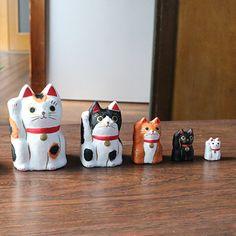 はりこーシカ 招き猫 柄 - ハリコ オンライン