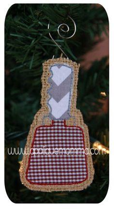 Cowbell Ornament Applique Design