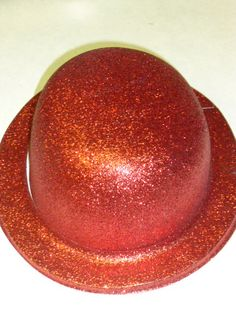 Red Glitter Hat Photo Booth Prop