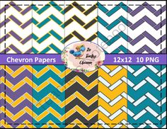 Chevron Papers (Digital Papers for Commercial Use) from thetravelingclassroom on TeachersNotebook.com -  (12 pages)  - 10 PNG Chevron Paper Pack - Digital Papers
