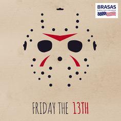"""Post Facebook - Hoje é sexta-feira 13!    Tem um monte de lendas e filmes de terror sobre o """"dia amaldiçoado"""", mas queremos saber: What's your favorite scary movie?  #sextafeira13 #sexta13 #BRASAS #Jason"""