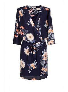 Robe kimono imprimé fleurs Nafnaf - ClicknDress