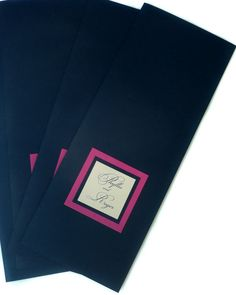 Pink and Navy Wedding Menu/Program Booklet by PinkOrchidInvites, $2.80