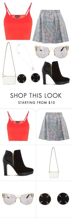 """Spring Break"" by gretamaeve ❤ liked on Polyvore featuring Topshop, Marc by Marc Jacobs, Dune, Miss Selfridge, Tory Burch, Melissa Joy Manning and Michael Kors"