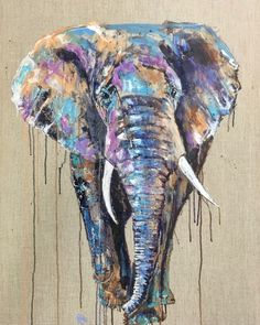 Beautiful original oil painting of an African Elephant. Oil painting on linen canvas by Louise Luton. Elephant Tapestry, Elephant Art, African Elephant, Animal Paintings, Paintings Of Elephants, Indian Paintings, Art Paintings, Watercolor Paintings Abstract, Watercolor Animals