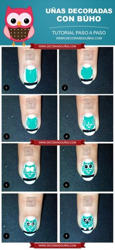 Nail Art de Buhitos paso a paso | Decoración de Uñas - Manicura y Nail Art