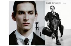 """Thibaud Charon in the Dior Homme """"Notes of the Day"""" Fall Winter 2014-2015 Campaign by Willy Vanderperre"""