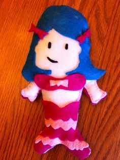 """Toddler mermaid doll. This was FUN to make! Like my store on Facebook. """"Little Blessings Gifts"""" our profile pic is the precious Moments kids."""