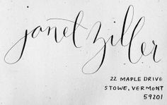 Hand-lettered Custom Wedding Calligraphy - Envelope Addressing - Hydrangea