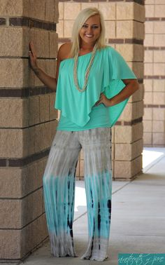 2139234a222 Tie Die Palazzo Pants. Convertible Top. Summer Outfit. NOJ Boutique.