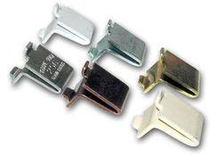Kv Shelf Support Clips with Cushion (Bag of 20) Brass,zink,white,almond,walnut (Brass) by KV. $7.89
