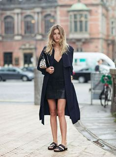 Look all black, todo preto, maxi casaco vestido preto, birken preta