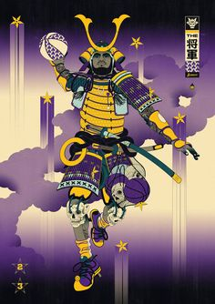 Andrew Archer is the creative force behind Edo Ball, envisioning NBA basketball players in the style of ancient Japanese woodblock prints called, ukiyo-e. Andrew Archer, Nba Pictures, Nba Wallpapers, Stars Craft, Basketball Art, Lebron James, King Lebron, Japanese Art, Things That Bounce