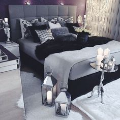 New post! I am obsessed with everything grey/silver these days when it comes to home decor especially in the bedroom. So I've put together a post sharing some inspiration for getting that 50 shades of grey look (minus the sex dungeon). Check it out // link in bio // #homedecor #interiordesign #50shadesofgrey