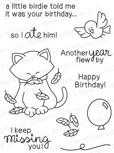 Newton's Nook Designs NEWTONS BIRTHDAY FLUTTER Clear Stamp Set 20150303 zoom image
