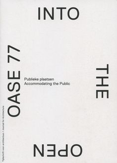 OASE —Journal for Architecture