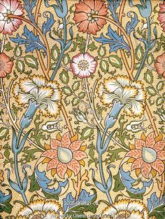Pink & Rose wallpaper, by William Morris. England, 19th century