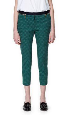 TIE-PRINT TROUSERS - Trousers - Woman - ZARA Canada