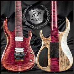 Kiesel Guitars Carvin Guitars pink arctic K7