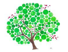 Invio il mio amore acquerello arte stampa di jellybeans su Etsy