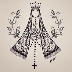 Tatuagem feminina New Hair Cut ariana new haircut Catholic Tattoos, Religious Tattoos, Religious Images, Religious Art, Body Art Tattoos, Tatoos, Die Dinos Baby, Mary Tattoo, Mother Tattoos