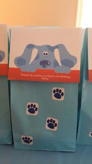Blue's Clues Birthday Party favor bags