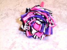 Pink/Purple/Zebra Duct Tape Flower Pen by FlowerPensAndMore, $6.99