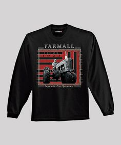 Take a look at this Black 'Farmall' Long-Sleeve Tee - Men by International Harvester on #zulily today!